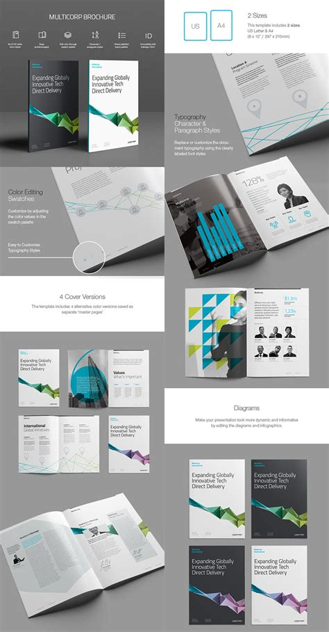 multi page brochure template 20 best indesign brochure templates for creative