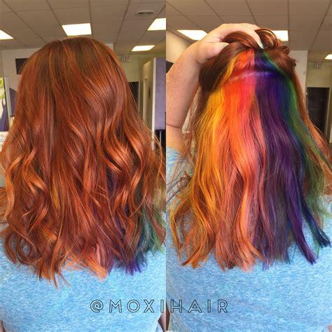 peekaboo color rainbow hair peekaboo hair color rainbow our work