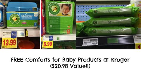 kroger comforts for baby hot free comforts formula diapers and wipes coupons