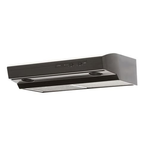 black under cabinet range hood nutone 220 cfm allure i series 30 in convertible under