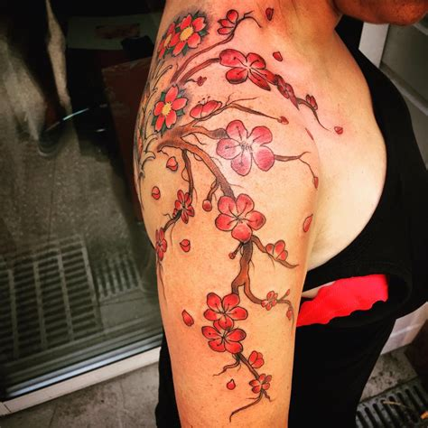 cherry blossom tattoo for men 75 best japanese cherry blossom designs
