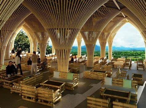 inspirasi restoran bambu desain modern dari bahan ramah lingkungan rooang