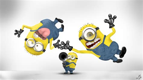 wallpaper cartoon minion minions having fun wallpapers and images wallpapers