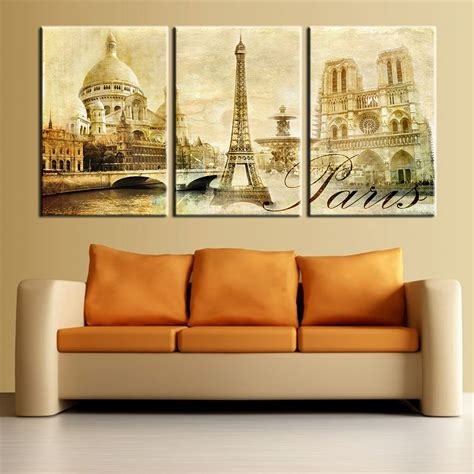 large home decor wall art pictures paris famous buildings large modern home