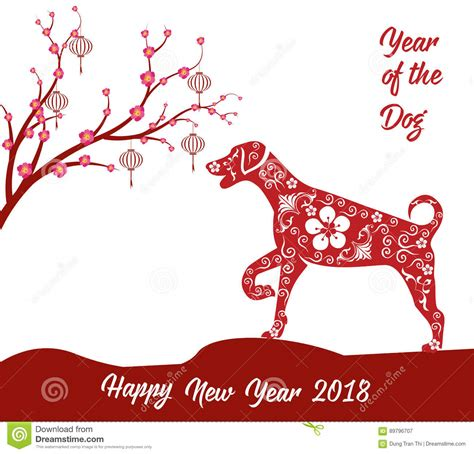 cny greeting cards template happy new year 2018 card year of stock vector