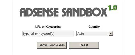 adsense sandbox adsense sandbox google adsense preview tool