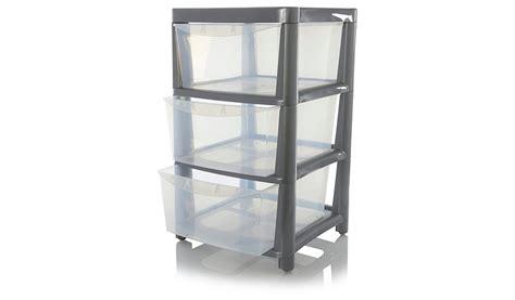 asda silver 3 drawer storage unit home garden george