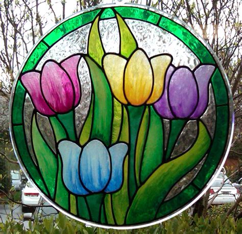 free glass painting gallery glass class the tulips are coming