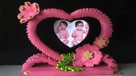 How To Make Showpiece With Paper - how to make a photo frame using paper 3d origami photo