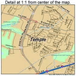 where is temple on the map temple map 4872176