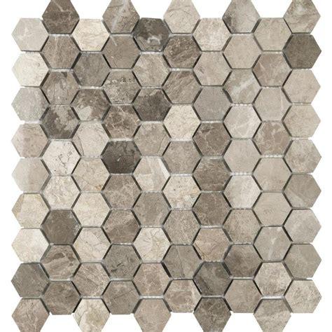 marble mosaic tile shop anatolia tile silver creek honeycomb mosaic marble