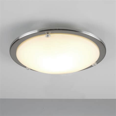 Modern Bathroom Ceiling Light by Modern Chrome Glass Flush Dome Bathroom Ceiling