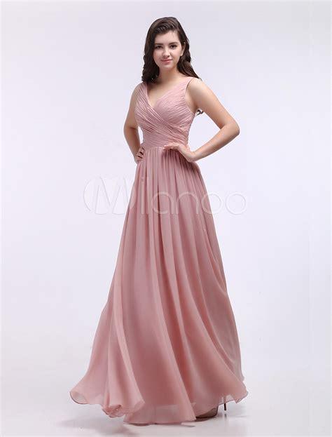 Largo vestido de damas de honor   Milanoo.com
