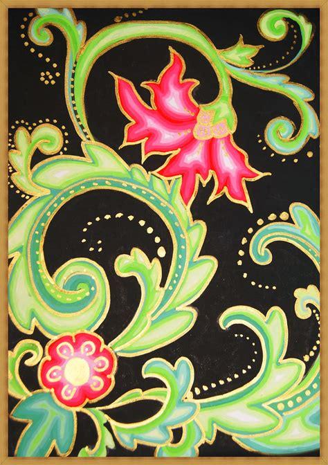 gambar desain ragam hias flora koleksi gambar hd