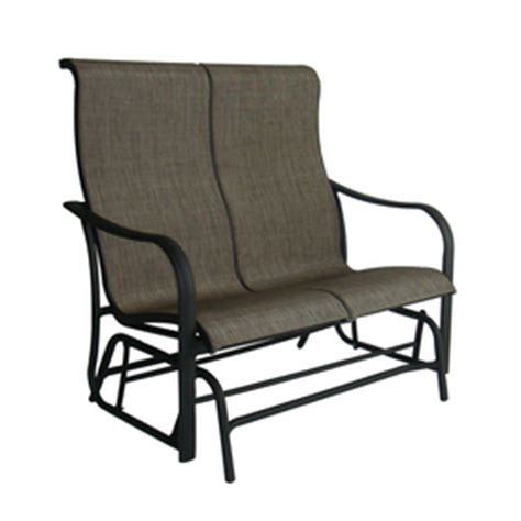 Patio Swing Chair Lowes Lowes Garden Treasures Sling Burkston 2 Person
