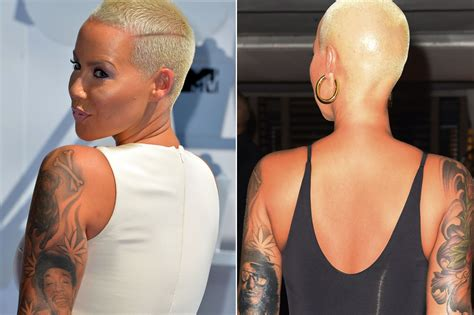 amber rose arm tattoo inks of ex wiz khalifa