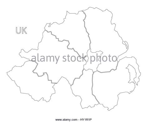 Ie Map Area Outline by Counties Ireland Stock Photos Counties Ireland Stock Images Alamy