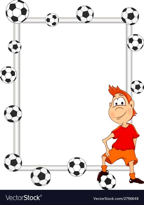 Frame Soccer frame with a soccer player royalty free vector image