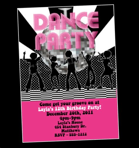 printable party invitations uk dance party invitations printable free www imgkid com