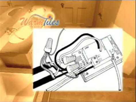 true comfort thermostat installation warm tiles installation 240v thermostat wiring youtube