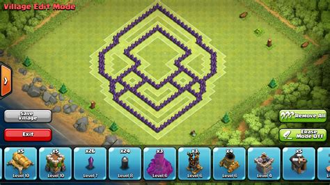layout coc pertahanan terkuat strategi pertahanan th 5 coc free download android