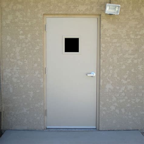 metal exterior doors with glass commercial metal doors with steel lite kit and glass