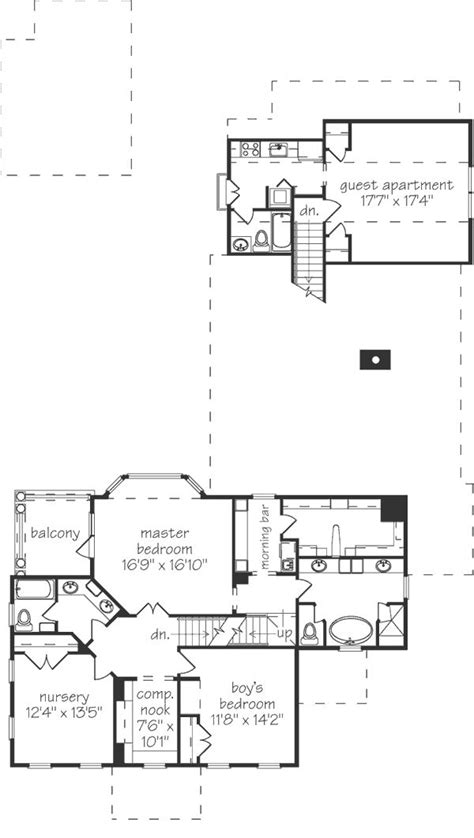 house plans with separate apartment sl 249 2nd floor master 2 bedrooms separate guest