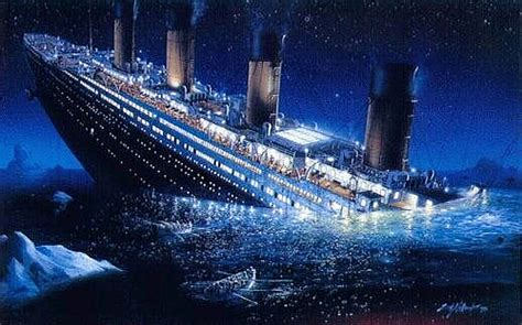 Titanic Sinking by Titanic Sinking The Sinking Of The Titanic In 1912