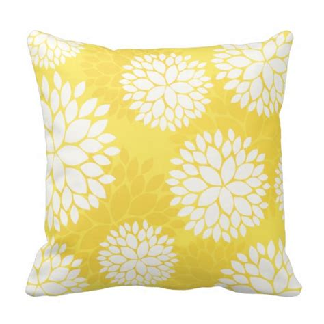 yellow couch pillows yellow pillows yellow throw pillows zazzle