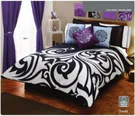 Black and white and purple bedroom set bedroom decorating ideas