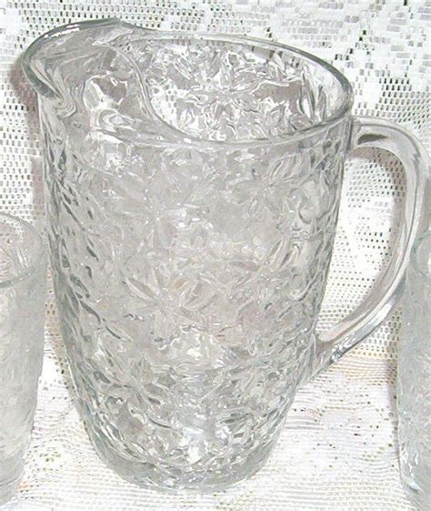 fantasia princess house princess house fantasia water pitcher poinsettia crystal