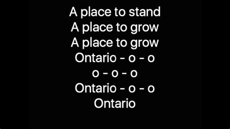 A Place Song A Place To Stand Ontario 150 Song Chords Chordify