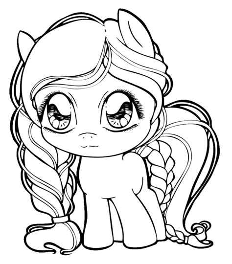 mlp chibi coloring pages pony chibi by chibivi linearts on deviantart
