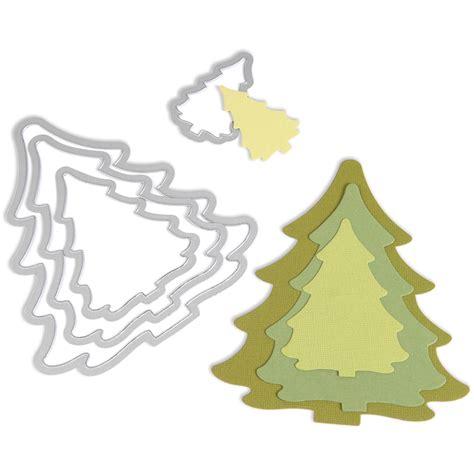 my christmas tree died sizzix framelits die set trees jo