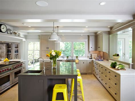 kitchen no cabinets 15 design ideas for kitchens without upper cabinets hgtv
