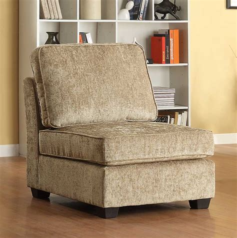 sofa shops in barnsley homelegance burke armless chair brown beige chenille