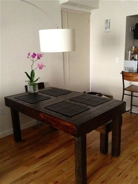 Dining Room Table Made From Pallets Decorate And Make Your Pallet Dining Table Unique Wooden Pallet Furniture