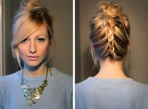 bangs braids and long hairstyles lovely braids with long side swept bangs 2015 styles time