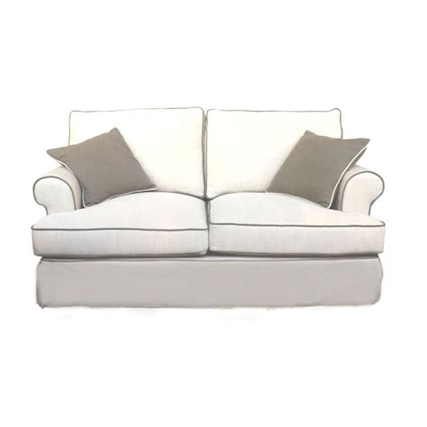 sofa with piping european design linen two seat sofa with contrast piping