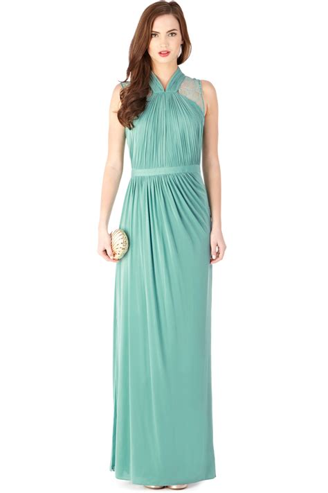 Gamis Jersey Maxi Dress lyst coast caprice jersey maxi dress in green