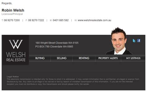 Html Email Signatures Agentpoint Real Estate Email Signature Templates