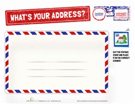 my address worksheet education