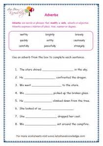 grade 3 grammar topic 16 adverbs worksheets lets share