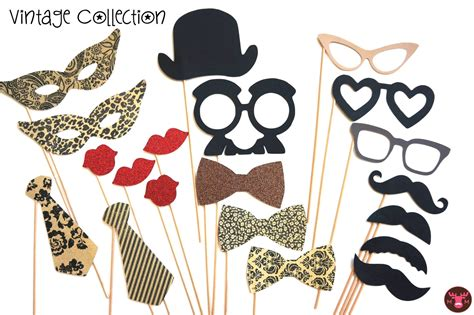 Vintage Printable Photo Booth Props | photo booth party props the vintage collection 20 piece