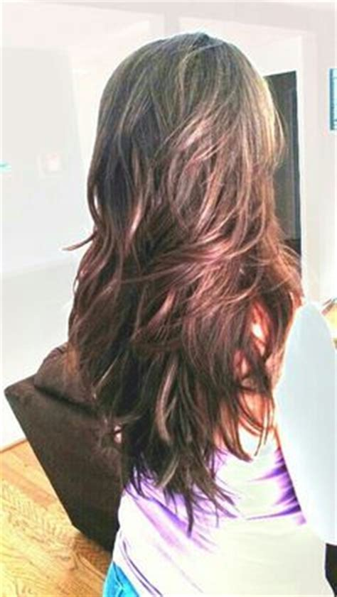 my hair is straight in the back long layered straight hair back view google search