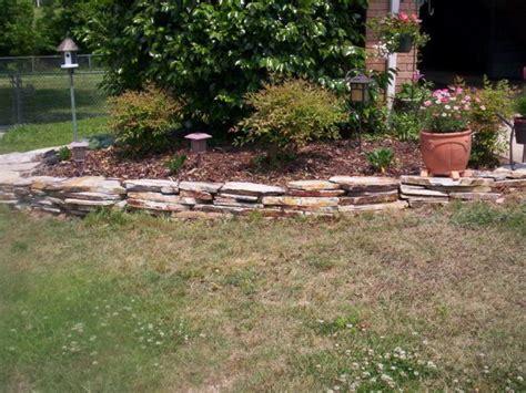 stone flower bed border raised flower bed stacked flat stone border ideas for my flower bed pinterest