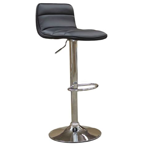 leather and chrome bar stools cambo black leather style chrome bar stool 163 64 99