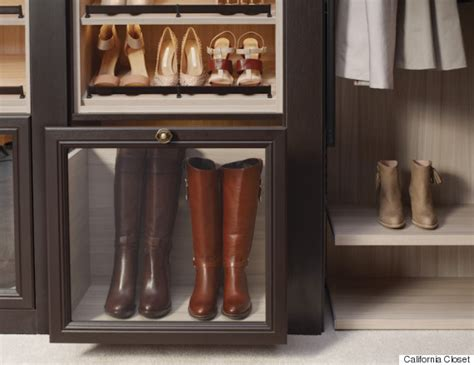 california closets shoe storage how to store your winter clothing in the season huffpost
