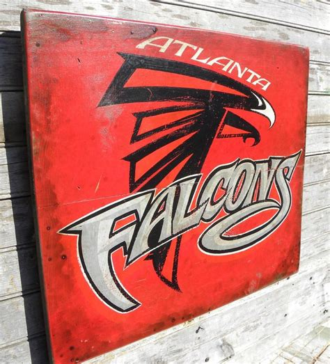 atlanta nfl signs etsy falcon fans here s an original hand painted sign i