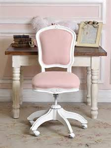 pink linen office chair for all my girly girls